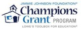 Jimmie Johnson Foundation/Lowe's Toolbox for Education Champions Grants Logo