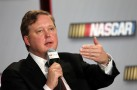 NASCAR chairman and CEO, Brian France addresses the media during the NASCAR Sprint Media Tour hosted by Charlotte Motor Speedway (Photo: Harold Hinson)