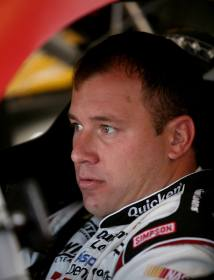 Ryan Newman, driver of the #39 Quicken Loans Chevrolet, sits in his car in the garage during practice - Photo Credit: Jerry Markland/Getty Images for NASCAR