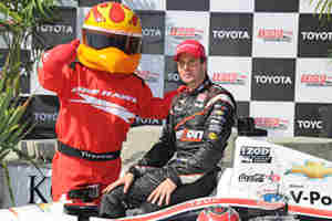 2012 Toyota Grand Prix of Long Beach Race Winner Will Power with the Firestone Firehawk - Photo Credit: Firestone Racing/Dennis Ashlock