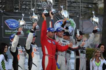 CORE autospor tALMS Long Beach Podium Finish