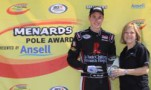 Alex Bowman Wins Menards Pole Award presented by Ansell Award At Toledo Speedway