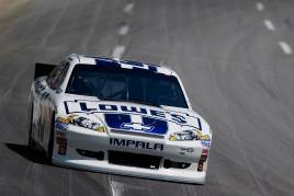 Jimmie Johnson In the No. 48 Lowe's Dover White Chevy - Photo Credit: Geoff Burke/Getty Images for NASCAR