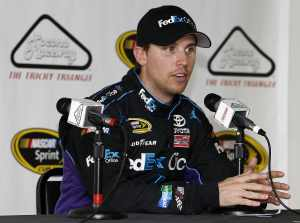 2012 Pocono June NASCAR Test: Denny Hamlin News Conference - Photo Credit: Jeff Zelevansky/Getty Images for NASCAR