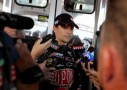 Jeff Gordon, driver of the No. 24 DuPont Chevrolet speaks to reporters - Photo Credit: Jeff Zelevansky/Getty Images for NASCAR
