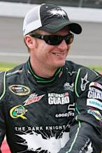 Dale Earnhardt, Jr. Driver of the No. 88 DEW/The Dark Knight Chevrolet Impala SS