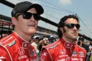 Scott Dixon (L) and Target Chip Ganassi Racing Teammate Dario Franchitti (R)