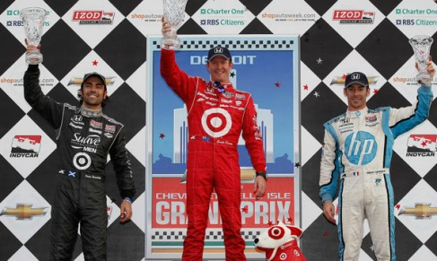 Scott Dixon Wins the 2012 IZOD IndyCar Series Chevrolet Detroit Belle Isle GP - Photo Credit: INDYCAR/LAT USA