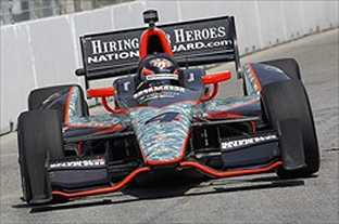JR Hildebrand on Track - Photo Credit: INDYCAR/LAT USA