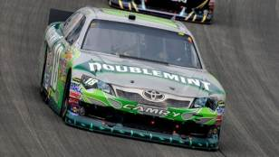 No 18 Doublemint Toyota Camry on Track - Photo Credit: Getty Images for NASCAR