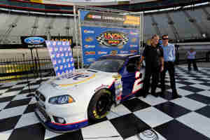 Current Blue Deuce driver Brad Keselowski honors NASCAR Hall of Fame Class of 2013 member Rusty Wallace with a retro No. 2 Miller Lite paint scheme at Bristol. - Photo Credit: John Harrelson/Getty Images for NASCAR