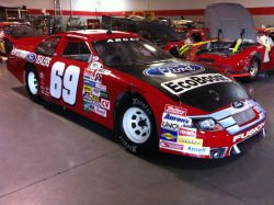 The No. 69 Kentuckiana Ford Dealers Ford Fusion driven by Will Kimmel in the ARCA Racing Series presented by Menards for Kimmel Racing.