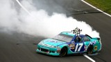 Matt Kenseth Doing Victory Donuts after winning the Hollywood Casino 400 - Photo Credit: Tyler Barrick/Getty Images