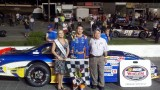 Ryan Wilson, driver of the No. 12 Southern Pharmacy Services / Randolph Bank Toyota Camry wins the Mid-Atlantic Shootout at Caraway (N.C.) Speedway in the NASCAR Whelen All American Series (NWAAS).