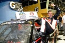Cale Gale, driver of the #33 Rheem Chevrolet, celebrates in Victory Lane after winning the NASCAR Camping World Truck Series Ford EcoBoost 200 at Homestead-Miami Speedway on November 16, 2012 in Homestead, Florida. - Photo Credit: John Harrelson/Getty Images for NASCAR