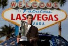 Brad Keselowski, driver of the #2 Miller Lite Dodge and 2012 NASCAR Sprint Cup Series Champion, poses with the Series Championship Trophy on November 27, 2012 in Las Vegas, Nevada. - P)hoto Credit: Tom Pennington/Getty Images