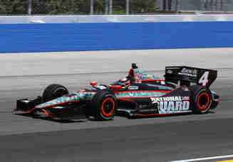 JR Hildebrand on track in the No. 4 National Guard/Panther Racing IndyCar - Photo Credit: Jonathan Daniel/Getty Images