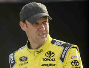 Matt Kenseth, driver of the #20 Ford, looks on in the garage area during NASCAR Sprint Cup Series Preseason Thunder testing at Daytona International Speedway on January 10, 2013 in Daytona Beach, Florida. - Photo Credit: Jared C. Tilton/Getty Images