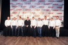 Richard Childress Racing drivers for 2013 Kevin Harvick, Jeff Burton, Paul Menard, Richard Childress, Ty Dillon, Brendan Gaughan, Austin Dillon and Brian Scott pose for a photo at RCR in Lexington, North Carolina. - Photo Credit: Jamey Price/Getty Images