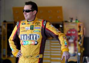 2013 Kyle Busch in Garage - Photo Credit: Matthew Stockman/Getty Images