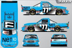 No. 77 NET10 Wireless Toyota Tundra