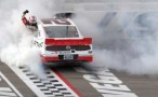 Sam Hornish Jr., driver of the #12 Wurth Ford, celebrates with a burnout after winning during the NASCAR Nationwide Series Sam&#039;s Town 300 at Las Vegas Motor Speedway on March 9, 2013 in Las Vegas, Nevada. - Photo Credit: Jerry Markland/Getty Images