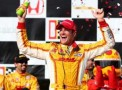 Ryan Hunter-Reay, driver of the #1 Andretti Autosport DHL Chevrolet celebrates in victory lane during the Honda Indy Grand Prix of Alabama at Barber Motorsports Park on April 7, 2013 in Birmingham, Alabama. - Photo Credit:: Nick Laham/Getty Images