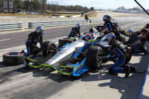 2013 IICS Driver Josef Newgarden Pitting - Photo Credit: INDYCAR
