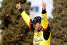 Matt Crafton, driver of the #88 Ideal Door/Menards Toyota, celebrates in Victory Lane after winning the NASCAR Camping World Truck Series SFP 250 at Kansas Speedway on April 20, 2013 in Kansas City, Kansas. (Photo by Chris Trotman/Getty Images)
