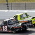 No. 18 Darrell Gwynn Foundation Toyota Tundra battle SFP 250 race winner Matt Crafton