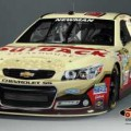 No. 39 Outback Steakhouse Chevrolet SS fielded by Stewart-Haas Racing that Ryan Newman will drive during the Toyota Owners 400 race weekend April 26-27 at Richmond (Va.) International Raceway (Credit: CIA Stock Photography for Outback Steakhouse)