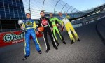 "NASCAR's Ricky Stenhouse Jr., Travis Pastrana and James Buescher, along with INDYCAR's James Hinchcliffe battle for being the ""Dude Perfect Motorsports Trick Shot"" Champion"