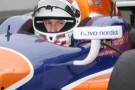 ICS Driver Charlie Kimball sits in the No. 83 NovoLog FlexPen Honda/Firestone/Dallara car - Photo Credit: INDYCAR