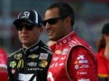 2013 NSCS Drivers Jamie McMurray (L- Cessna) & Juan Pablo Montoya (R-Target) - Photo Credit: Tom Pennington/Getty Images