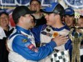 David Gilliland and David Ragan celebrate after their 1-2 finish at Talladega in May.