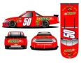 No. 50 Stacker 2 Xtra Energy Shot Chevrolet Silverado Layout