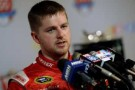 2014 NSCS Driver Justin Allgaier speaks with the media - Photo Credit: Robert Laberge/Getty Images