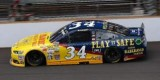 "2014 NSCS Driver David Ragan on track in the No. 34 CSX ""Play it Safe"" Ford Fusion"