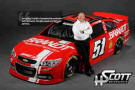 HScott Motorsports Owner, Harry Scott, Stands Next to the No. 51 BRANDT Chevrolet Driven by Justin Allgaier