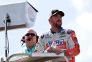 2014 NNS Driver Eric McClure on pit box - Photo Credit: Chris Trotman/Getty Images