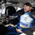Brian Vickers, driver of the #55 Aaron's Dream Machine Toyota, sits in his car during practice for the NASCAR Sprint Cup Series Kobalt 400 at Las Vegas Motor Speedway on March 8, 2014 in Las Vegas, Nevada. - Photo Credit: Jeff Bottari/Getty Images