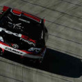 2014 NSCS Driver Denny Hamlin on track at Bristol Motor Speedway in the No. 11 FedEx Freight Toyota Camry - Photo Credit: Jared C. Tilton/Getty Images
