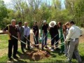 Sorenson participates in a tree planting at James River Park (Richmond, VA) as part of the NASCAR Go Green initiative