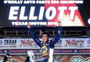 Chase Elliott, driver of the #9 NAPA Auto Parts Chevrolet, celebrates in victory lane after winning the NASCAR Nationwide Series O'Reilly Auto Parts 300 at Texas Motor Speedway on April 4, 2014 in Fort Worth, Texas. - Photo Credit: Chris Graythen/Getty Images for Texas Motor Speedway