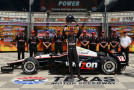 Will Power of Australia, driver of the #12 Verizon Team Penske Dallara Chevrolet, celebrates after setting the pole position in NTT DATA Qualifying for the Verizon IndyCar Series Firestone 600 at Texas Motor Speedway on June 6, 2014 in Fort Worth, Texas. - Photo Credit: Robert Laberge/Getty Images