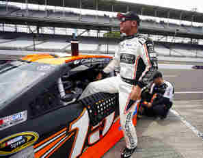 2014 NSCS Driver Clint Bowyer Climbs From His No. 15 RK Motors Charlotte Toyota Camry - Photo Credit: Matt Sullivan/Getty Images