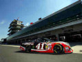 Kurt Busch, driver of the #41 Haas Automation Chevrolet, drives through the garage area during practice for the NASCAR Sprint Cup Series Crown Royal Presents, the John Wayne Walding 400 at the Brickyard Indianapolis Motor Speedway on July 25, 2014 in Indianapolis, Indiana. - Photo Credit: Matt Sullivan/Getty Images