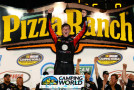 Erik Jones, driver of the #51 ToyotaCare Toyota, celebrates after winning at Iowa Speedway on July 11, 2014 in Newton, Iowa. - Photo Credit: Robert Laberge/Getty Images