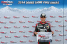 Jeff Gordon, driver of the #24 Drive to End Hunger Chevrolet, poses with the Coors Light Pole Award after qualifying for the pole for the NASCAR Sprint Cup Series Cheez-It 355 at Watkins Glen International on August 9, 2014 in Watkins Glen, New York. - Photo Credit: Tom Pennington/Getty Images