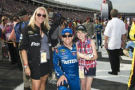 A family meets Carl Edwards in May as part of the Ride of a Lifetime experience through Speedway Children's Charities. (Credit: CMS Photo/HHP)
